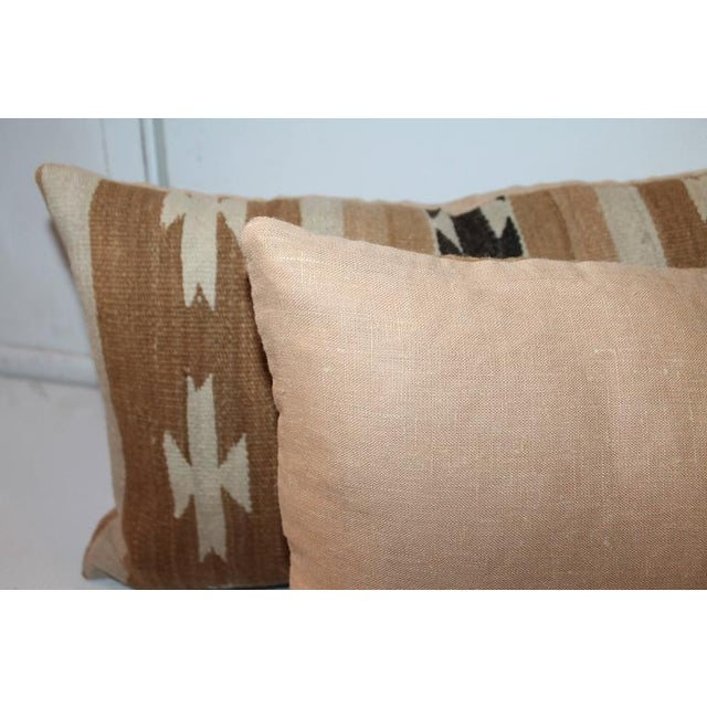 Pair of Chinle Navajo Indian Weaving Bolster Pillows - Image 3 of 5