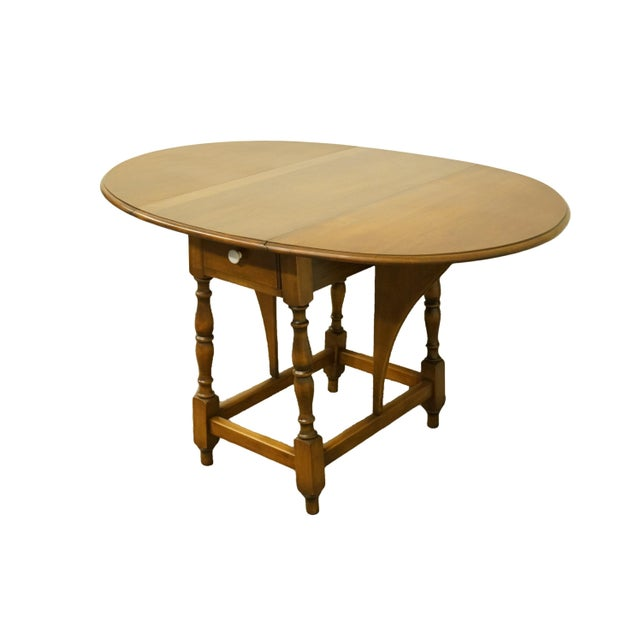 20th Century Country Jamestown Ny Solid Walnut Maddox Table For Sale - Image 10 of 13