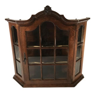 20th Century French Country Wooden Wall Cabinet For Sale