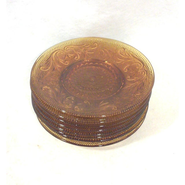 Gold Sandwich Glass Saucers - Set of Six - Image 2 of 3