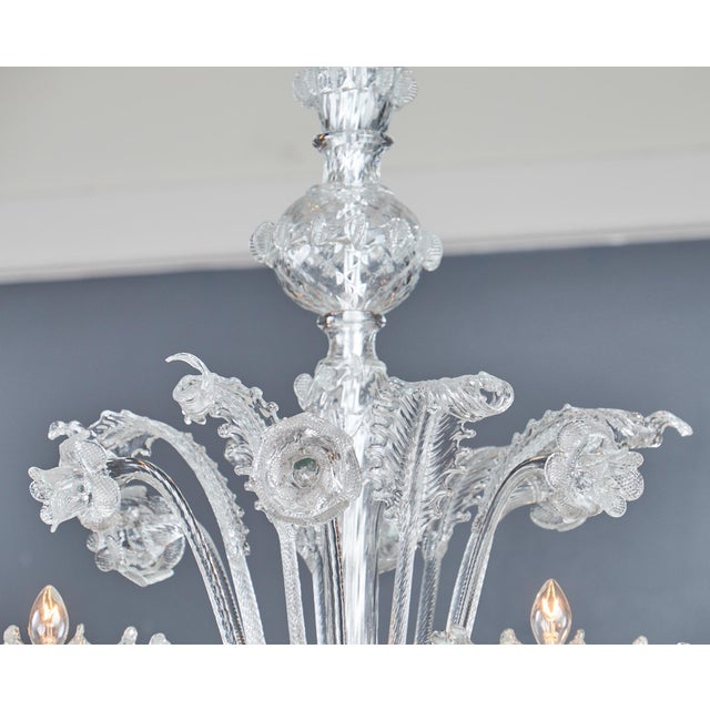 Italian Vintage Murano Glass Chandelier - Image 5 of 11 - Superb Italian Vintage Murano Glass Chandelier DECASO