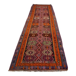 Hand-Woven Turkish Kurdish Runner Rug. Tribal Long and Wide Runner 4′7″ × 16′3″