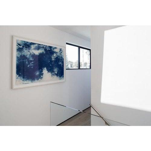 """Artist: James Porschen Title: Moontide Medium: Cyanotype print - framed Size: 40 x 60"""""""