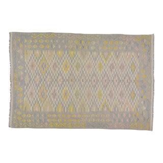 "Afghan Hand Made Natural Wool Maimana Kilim,5'5""x8'1"" For Sale"