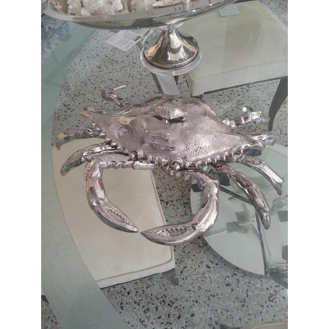 Silver Nickel-Plated Lobster Figure Serving Dish by Angel & Zevallos C. 2018 For Sale - Image 8 of 10