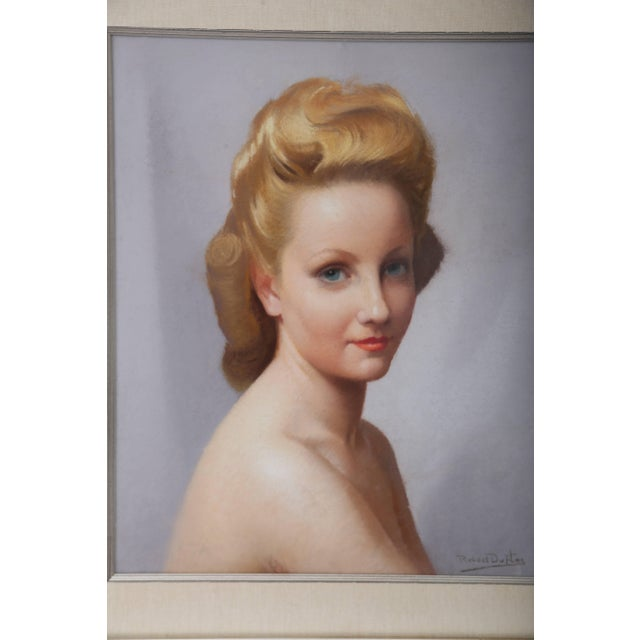 This beautiful pastel three-quarter-pose portrait was recently acquired from a London, England estate and it dates to the...