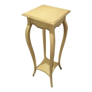 Ethan Allen Country French Provincial Distressed Yellow Plant Stand For Sale