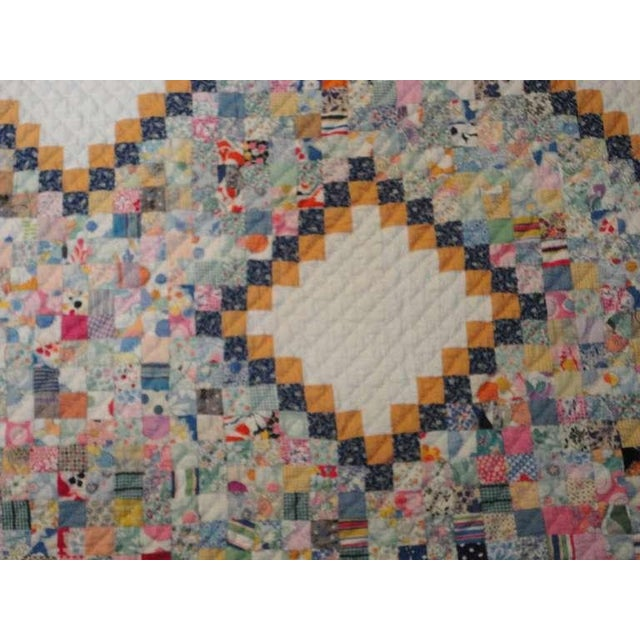 Fantastic Mini-Pieced Postage Stamp Quilt from Pennsylvania For Sale In Los Angeles - Image 6 of 10