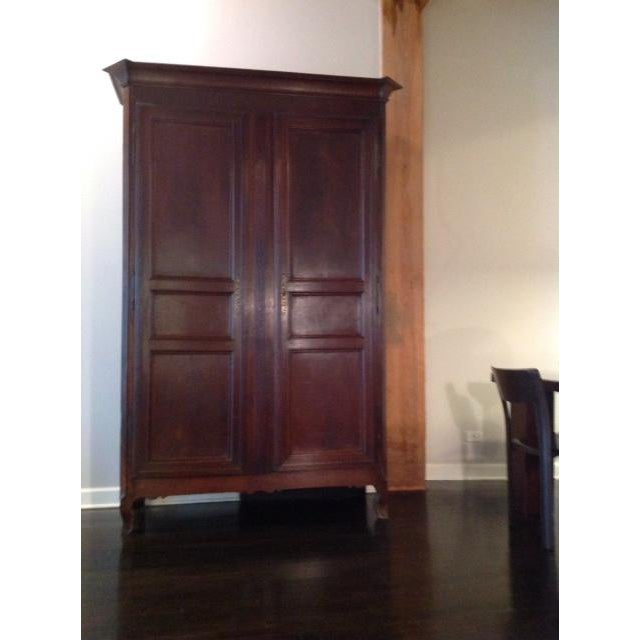 Late 19th Century Vintage French Armoire For Sale - Image 4 of 4