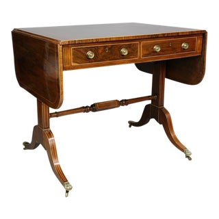 Regency Rosewood Sofa Table For Sale