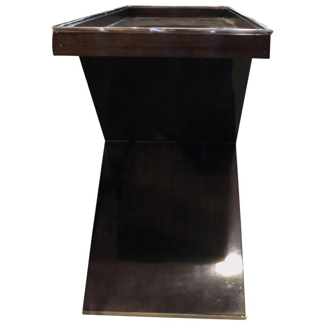 Mid 20th Century Modern Tray Top Console Table For Sale - Image 5 of 6