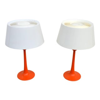 1960s Vintage Gerald Thurston for Lightolier Table Lamps - a Pair For Sale