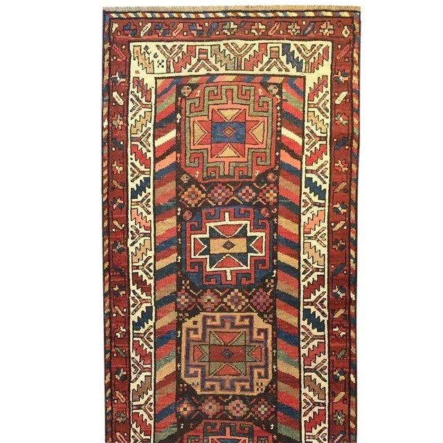 19th Century Azeri Runner - 3′3″ × 15′ For Sale