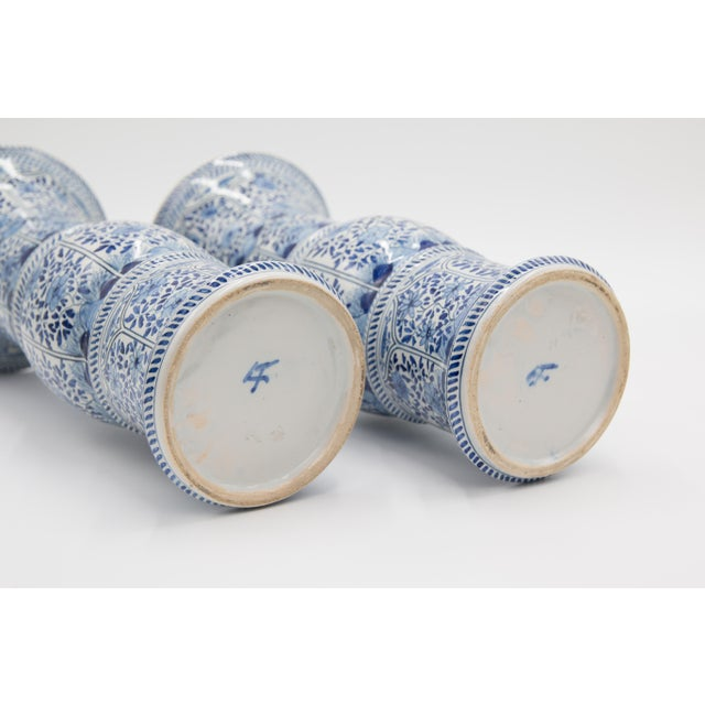 Ceramic Large Antique 19th-Century Dutch Delft Vases - a Pair For Sale - Image 7 of 8