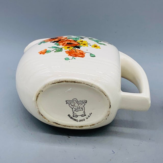 1940s Viktor Schreckengost Designed Floral Jiffy Ware Pitcher For Sale In Los Angeles - Image 6 of 13