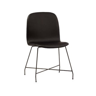 Black Leather Dining Chair For Sale