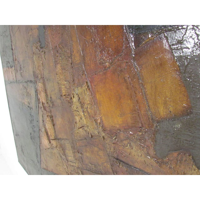 1960s Brutalist Abstract Modernist Painting by Berkshire Artist John Stritch, 1963 For Sale - Image 5 of 10