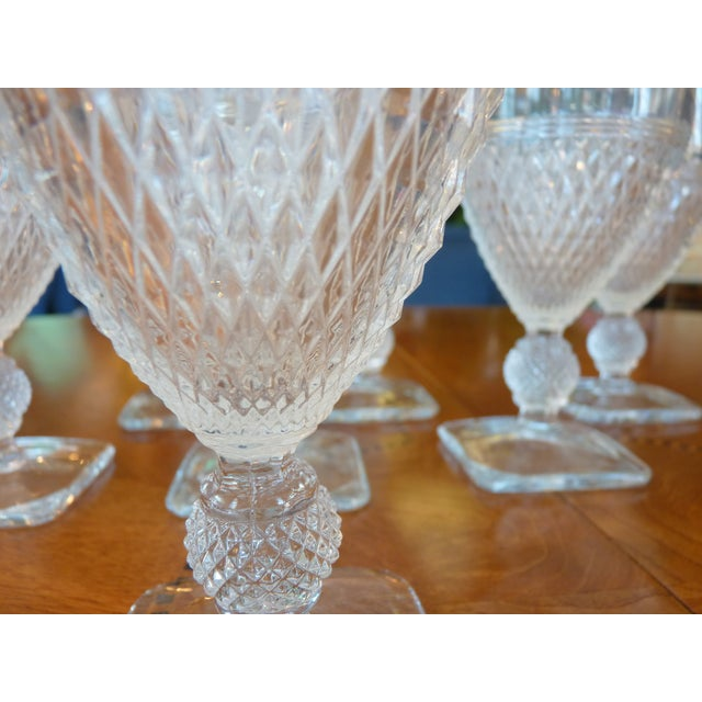 Pressed Glass Footed Goblets - Set of 8 - Image 3 of 8
