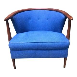 1960s Mid-Century Modern Walnut Club Chair For Sale