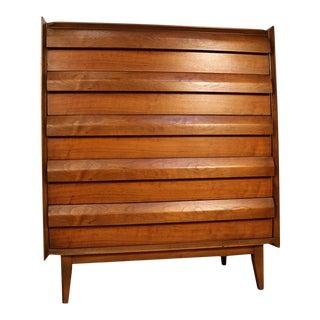 VIntage Mid Century Modern Solid Walnut Dresser For Sale
