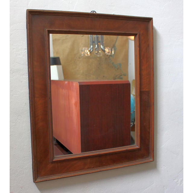 1930s French Art Deco Veneer Mirror For Sale - Image 5 of 5