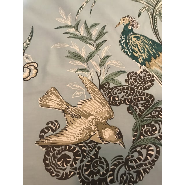 This listing is for 2 1/2 Yards of Miles Redd Doe Schumacher Peacock in Aqua decorator fabric. This chintz was inspired by...