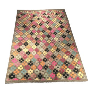 Contemporary Tribal Kilim Rug - 6′6″ × 10′ For Sale