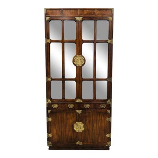 Vintage Henredon Asian Style China Cabinet For Sale