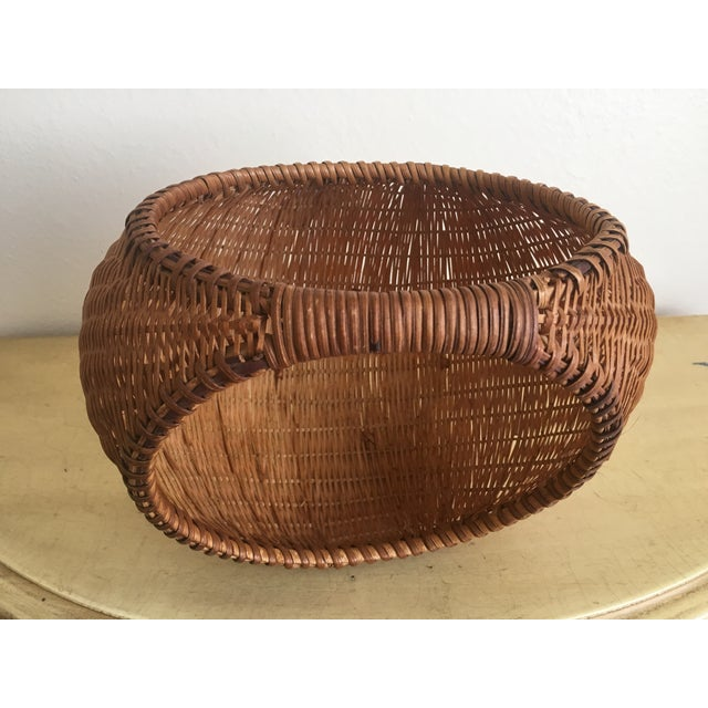 Fall Harvest Round Rattan Basket - Image 5 of 6