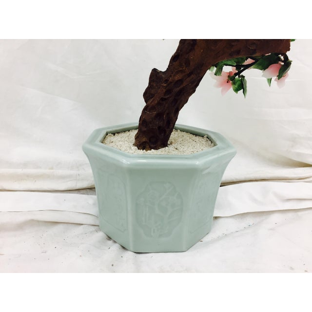 Vintage Mixed Stone Bonsai Tree Sculpture - Image 9 of 11