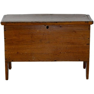 19th Century Rustic Walnut Sugar Chest With Lift Top For Sale