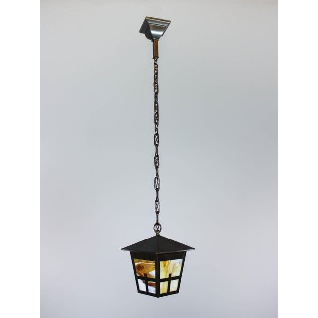 Arts & Crafts Mission Lantern Pendant Fixture - Image 3 of 6