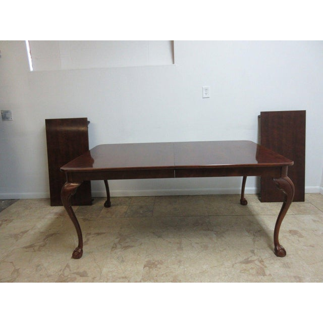 Henredon Cherry Ball Claw Chippendale Banquet Dining Table For Sale - Image 11 of 11