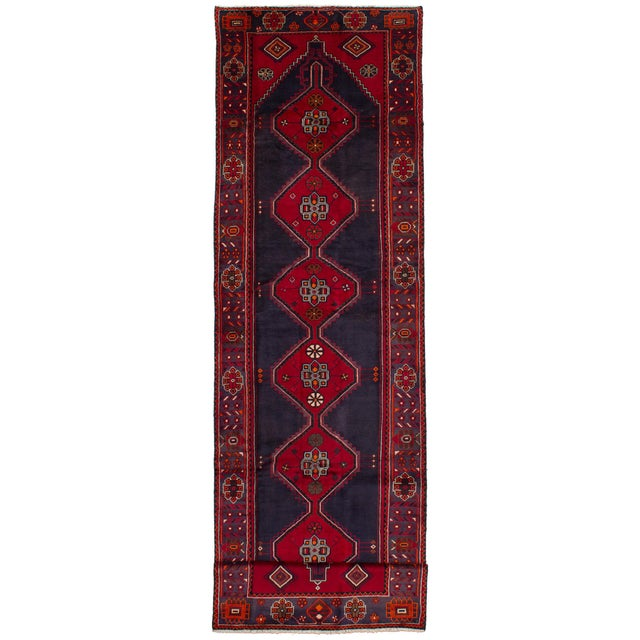 "HAMADAN Vintage Persian Rug, 3'9"" x 14'6"" feet - Image 5 of 5"