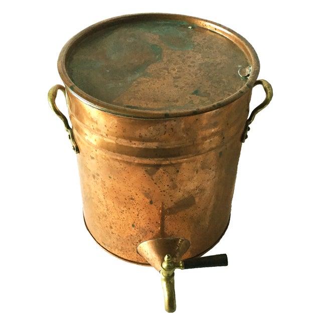 Antique Copper & Brass Drink Dispenser For Sale - Image 4 of 6