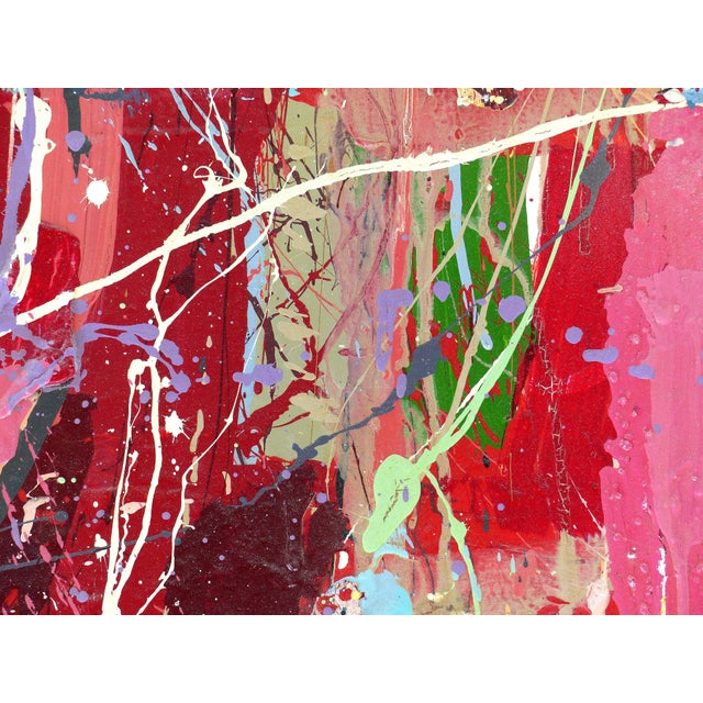 """William P. Montgomery Abstract Mixed Media Painting """"Rocket Science #1"""" For Sale - Image 12 of 13"""