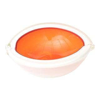 1960s Vintage Italian Murano Barbini Cased Glass Bowl For Sale