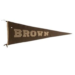 Vintage Brown University Felt Flag Pennant