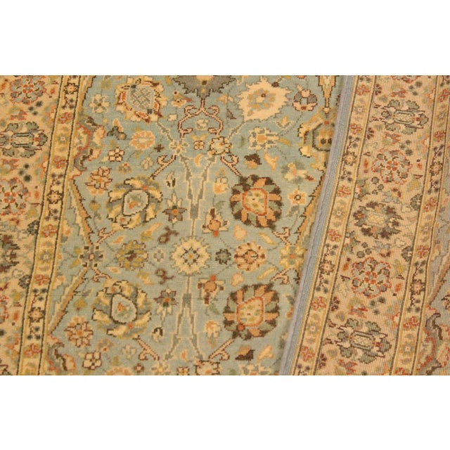 Textile Shabby Chic Istanbul Archie Blue/Ivory Turkish Hand-Knotted Rug -3'1 X 5'0 For Sale - Image 7 of 8