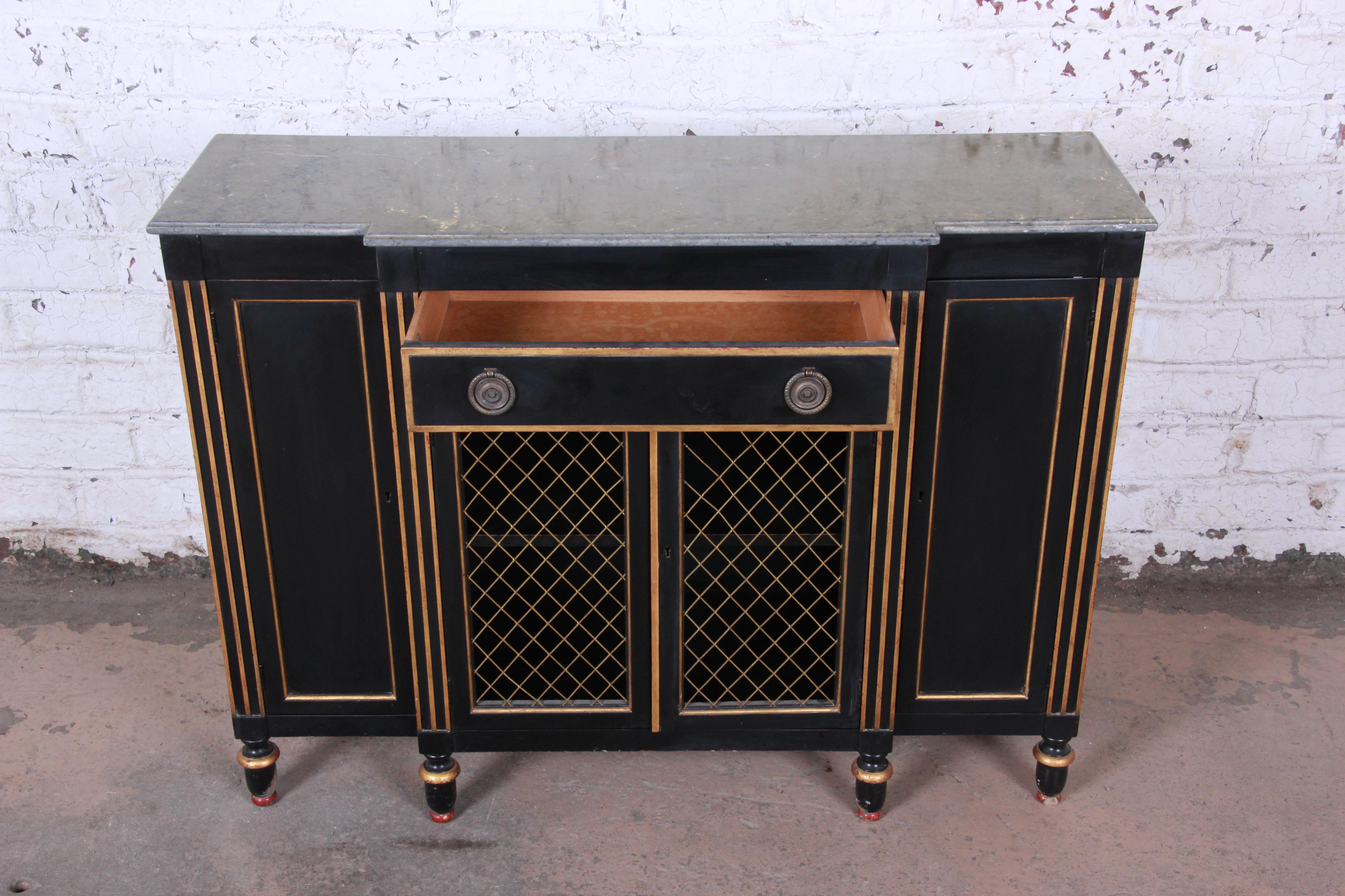 Baker Furniture Neoclassical Sideboard Credenza or Bar Cabinet Chairish