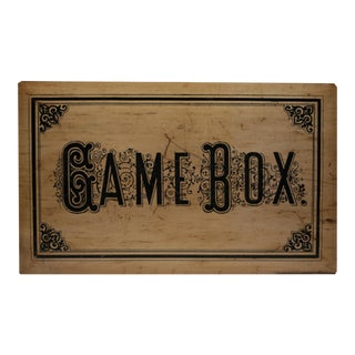 Turn of the Century Game Box: Chess, Checkers, Asalto, Lotto and Dominos c. 1900