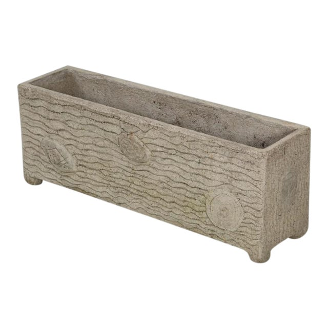 French Faux Bois Garden Trough or Planter For Sale