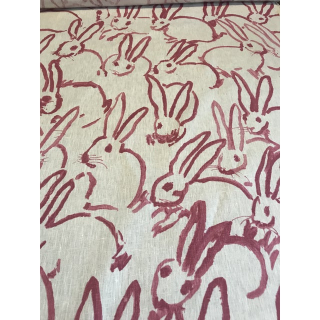 """Contemporary Hunt Slonem for Groundworks """"Hutch"""" Linen Fabric - 4 Yards For Sale - Image 3 of 6"""