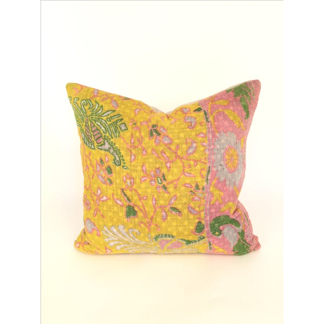 Vintage Kantha Quilt Pillow - Image 2 of 4