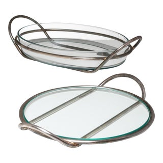 Pair of Silver Plated Trays by Lino Sabattini for Argenteria Sabattini For Sale