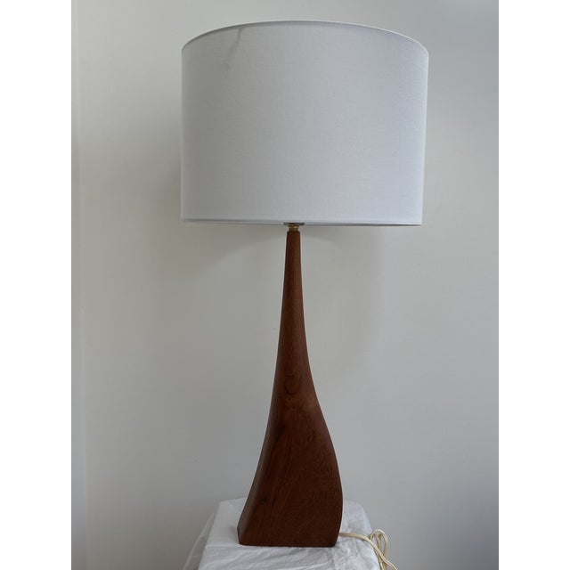 Sculptural Teak Table Lamp in the Style of Ernst Henriksen For Sale - Image 11 of 13