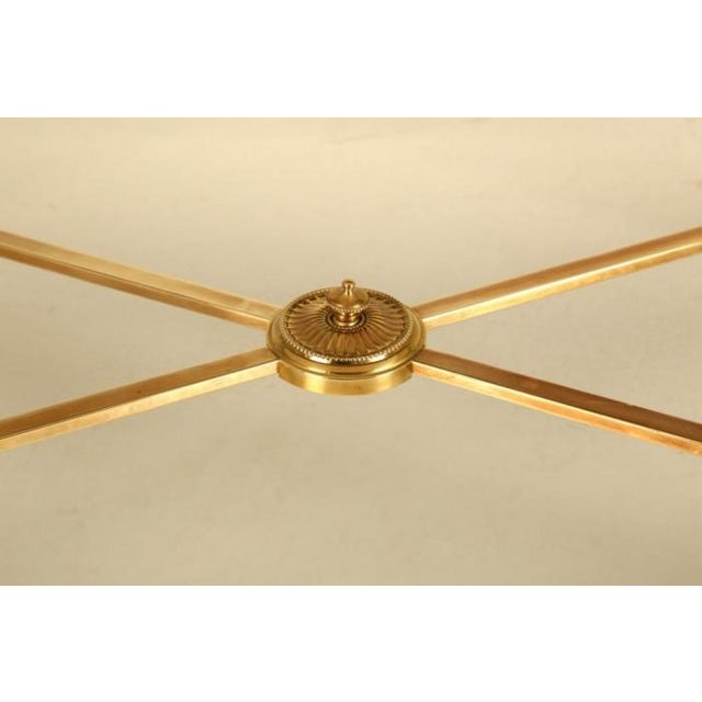 French French Mid-Century Modern Brass Coffee Table For Sale - Image 3 of 10
