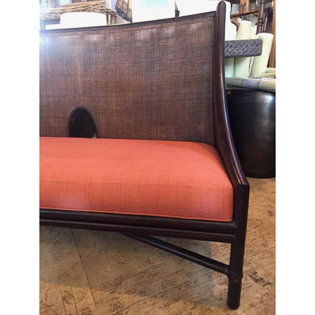 McGuire Bamboo Frame Cane Bench - Image 4 of 5
