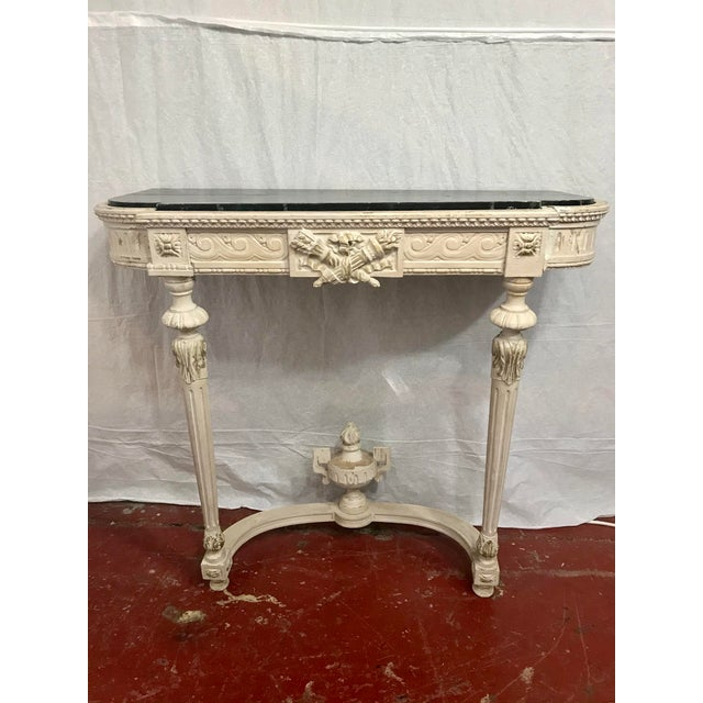 Paint Louis XVI Style Painted Consoles a Pair For Sale - Image 7 of 13