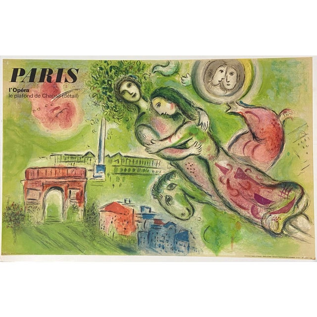 "Marc Chagall Original Vintage 1964 Lithograph Poster ""Romeo and Juliet"" Paris Opera For Sale - Image 11 of 11"